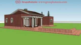 Villa Romana. Chalet Ecologico Para Construir En El Interior De Alicante. Por Grupo Katania.