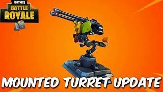 "Fortnite:Battle Royale ""Mounted Turret"" Update - Fortnite Mounted Turret gameplay Update"