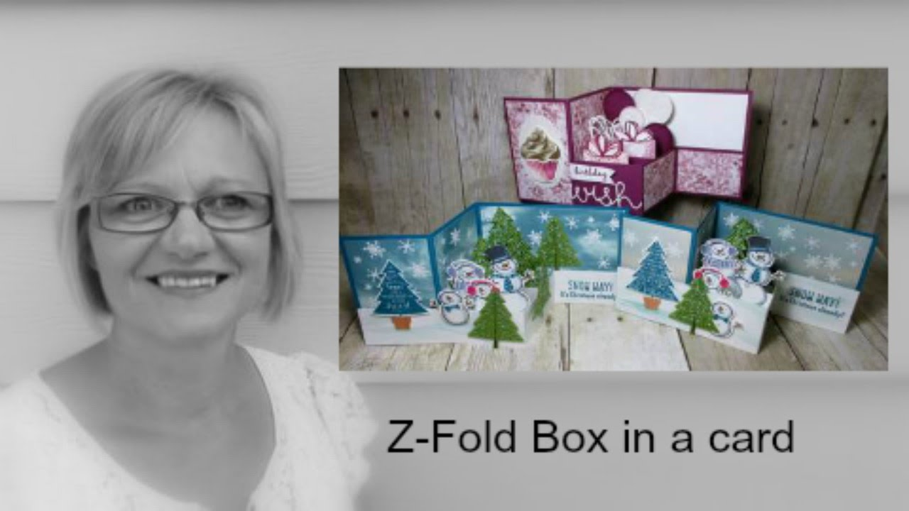 StampinUp Z Fold Box In A Card YouTube