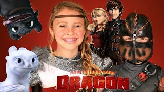 How To Train Your Dragon! Hiccup and Astrid Makeup and Costumes