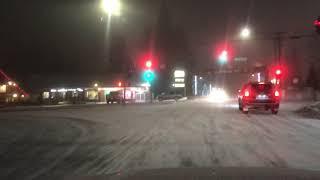 Winter Storm Update. Light snow in Big Bear Lake, CA. Little accumulation. 2/20/2019 Video