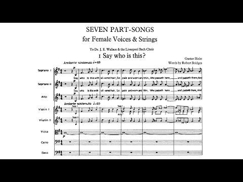 Gustav Holst  Seven PartSongs 1926
