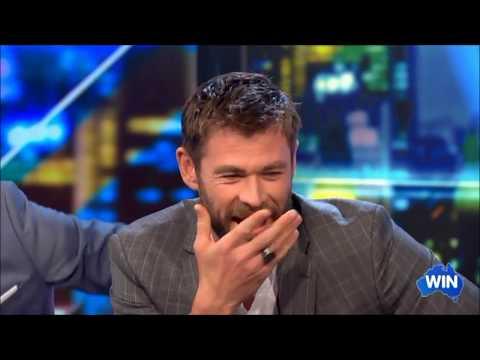 """""""Ragnarok Spoiler"""" w/ Chris Hemsworth & Mark Ruffalo on Live Australian Tv Interview 2017"""
