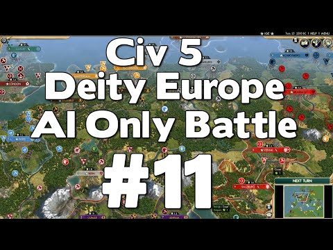 Civ 5 Deity Europe AI Only Battle # 11
