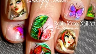 Nail Art Tutorial | Butterfly Nails | Fairies And Butterflies Nail Design