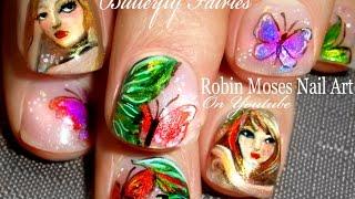 Nail Art Tutorial | Butterfly Nails | Fairies And Butterflies Nail Design