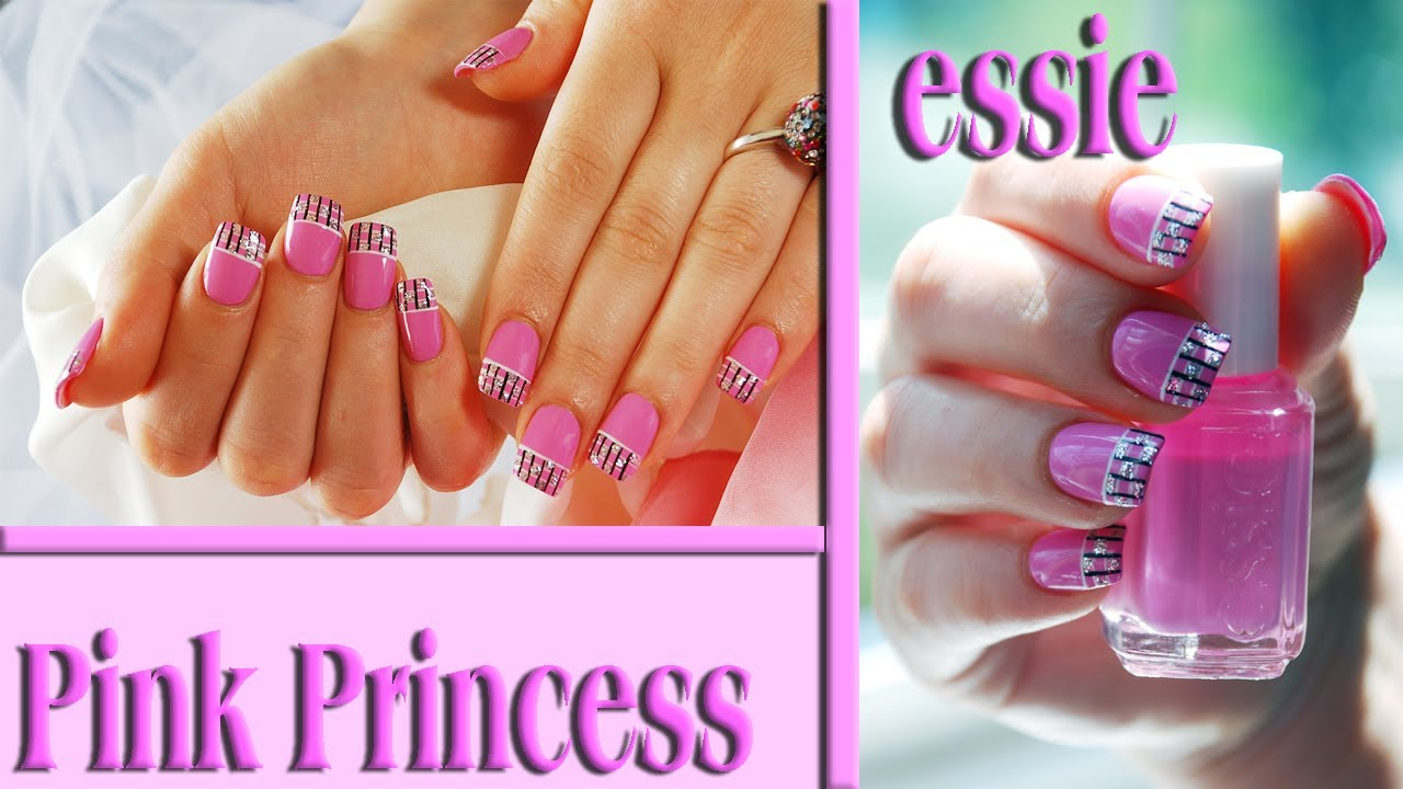 - Pink Princess Easy Nail Design Tutorial. Nails Of Promise - YouTube