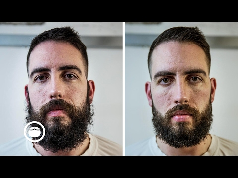 Trimming a Wild Beard at Barbershop | Cut and Grind