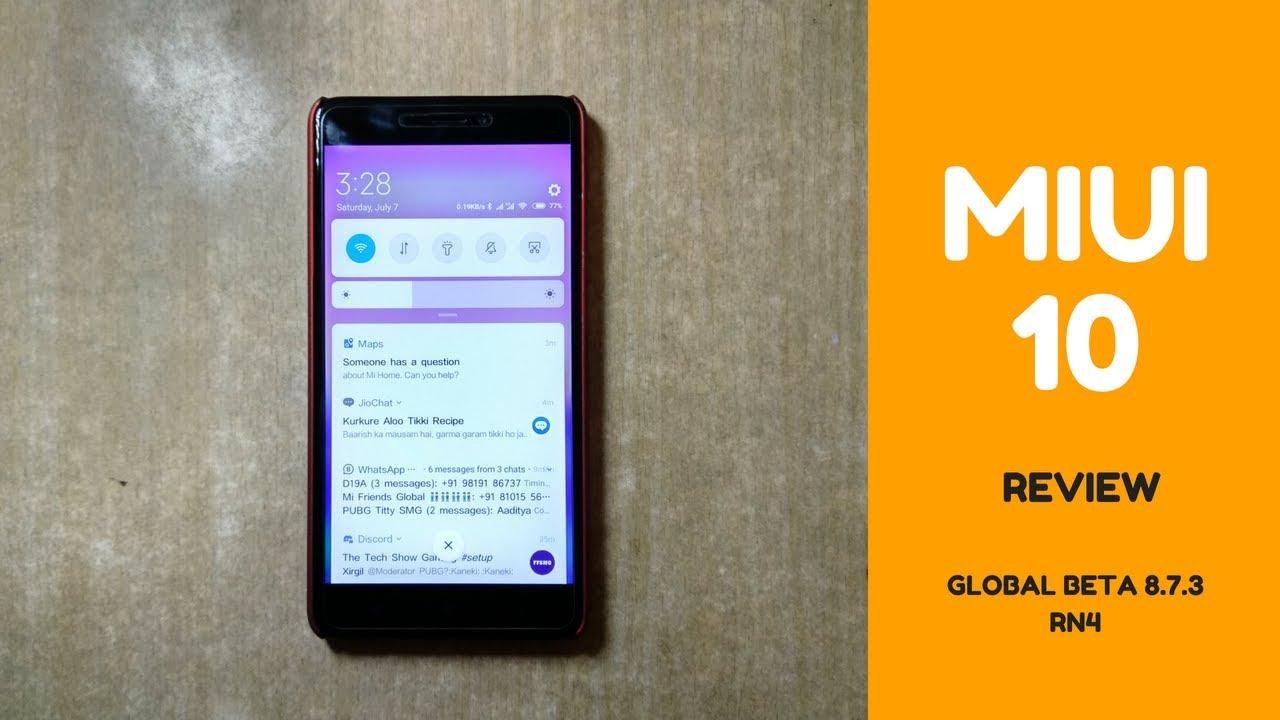 MIUI 10 Global Beta Rom 8 7 3 For Xiaomi Redmi Note 4 (Mido)
