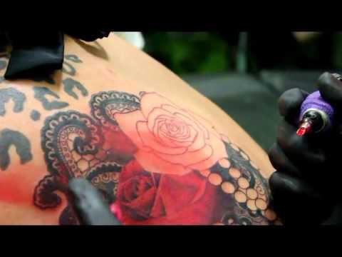 Pearls Lace Roses Tattoo Daddy Jack Tattoo Time Lapse Youtube