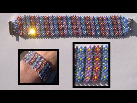 Beading4perfectionists: Stitch nr 13: Potawatomi stich (also know as daisy chain) beading tutorial