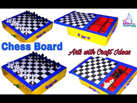Crafting Chess Board with Tharmacol & Quelling-Papers:Arts with Craft Ideas