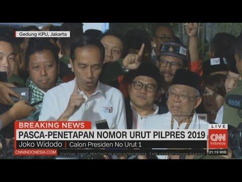 Usai Penetapan Nomor Urut, Jokowi: Kita Ingin Indonesia Ini Ber..Satu
