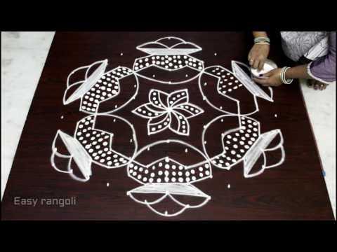 bhogi kundalu muguglu designs with 13x7 dots for sankranthi   bhogi pot pongalkolam    easy rangoli