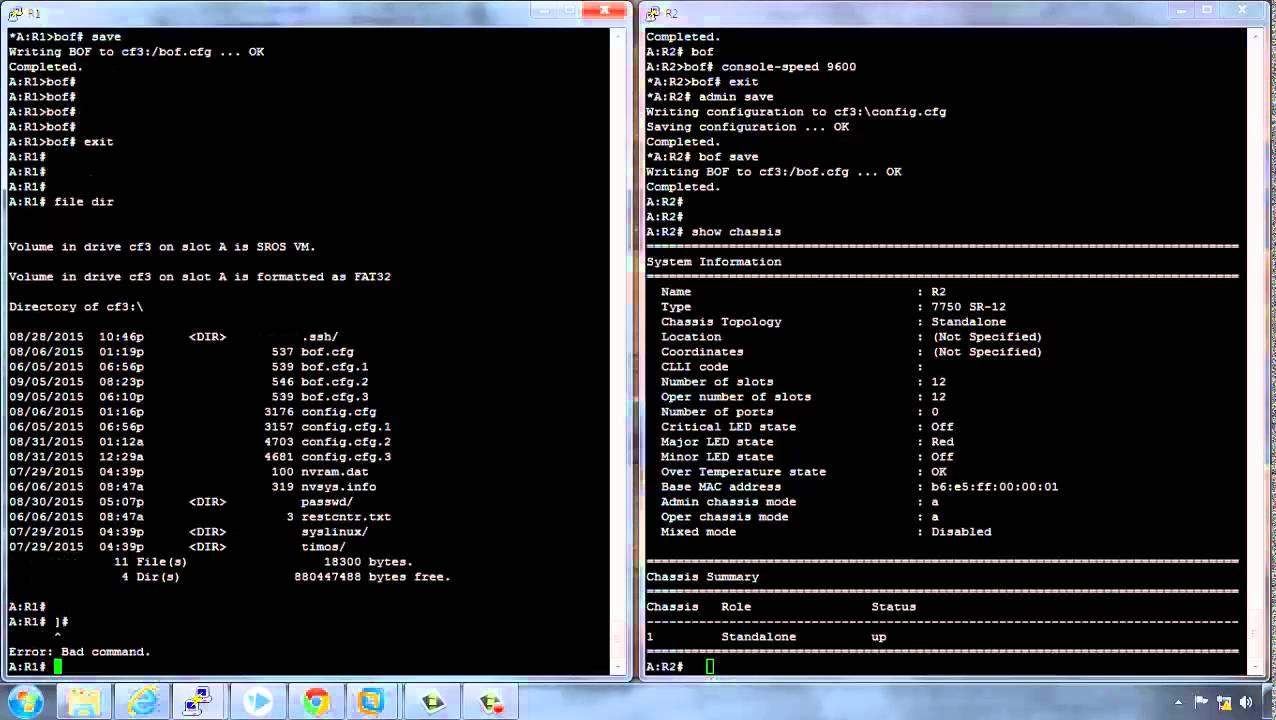 Part 1: Alcatel router configuration overview