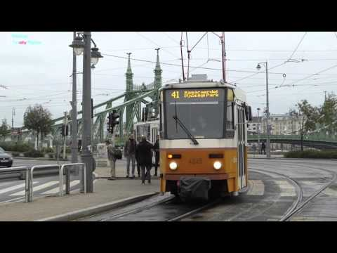 Trains and Trolleys of Budapest, Hungary 2015 (All transportation)