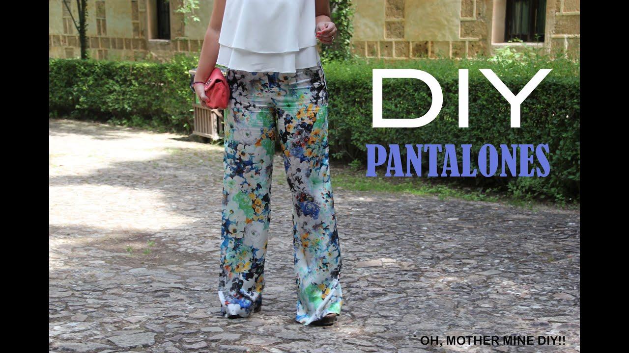 Diy Costura Como Hacer Pantalones Pata De Elefante Patrones Gratis Youtube