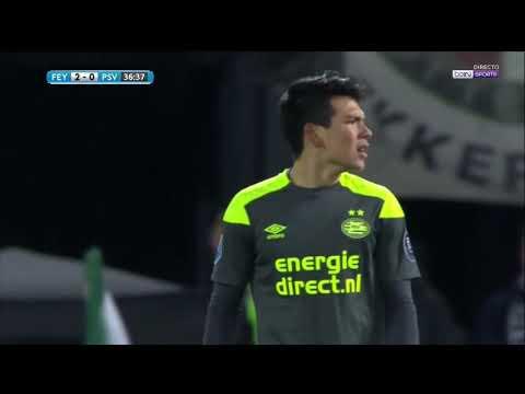Hirving Chucky Lozano vs Feyenoord | HD 720p | KNVB Beker | 31/01/18