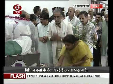 Tributes paid to Dr. Kalam at his Delhi residence