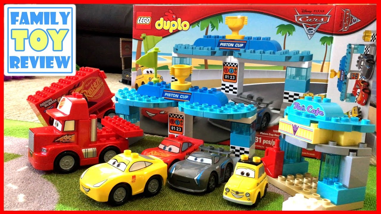 Disney Cars 3 Toys Lego Duplo Jackson Storm Piston Cup Race Crash