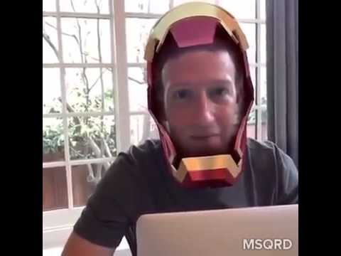 Mark Zuckerberg Taking a break from coding to welcome the MSQRD team to Facebook!