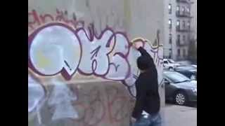 real street life of graffiti IN NYC