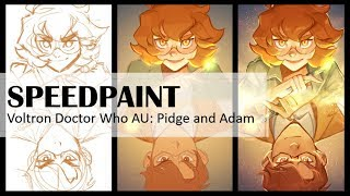 Voltron (Doctor Who AU) Pidge and Adam - [SPEEDPAINT]