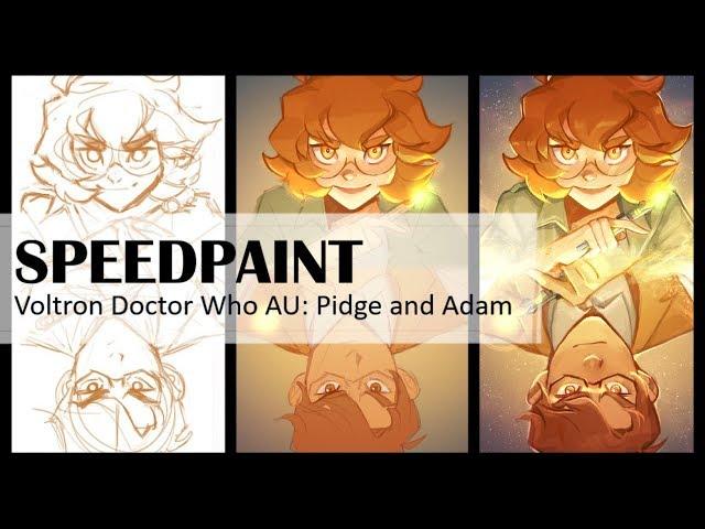 Voltron (Doctor Who AU) Pidge and Adam - [SPEEDPAINT]