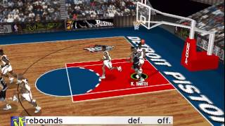 NBA Live '97 PC DOS Gameplay - Orlando Magic vs Detroit Pistons
