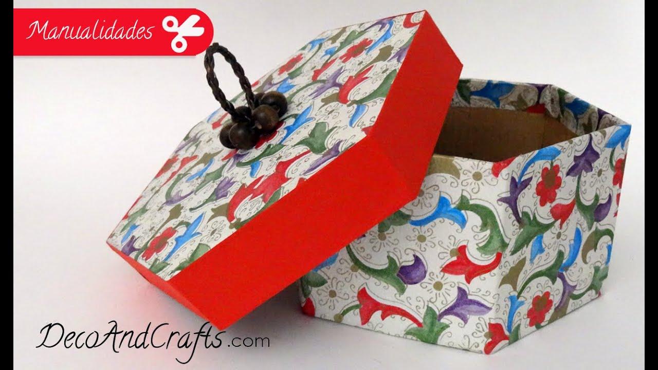Dulcero Cajita hexagonal - Box - YouTube