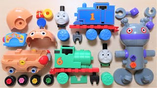 Thomas & Friends New Block with Anpanman & Bacteria man I assemble them using tools RiChannel