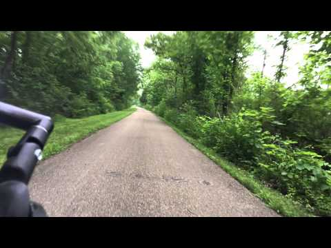 Cycling the Ohio to Erie Trail Day 1 Time Lapse at 24x Speed