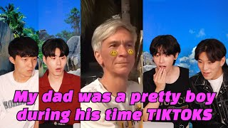 Koreans React to My dad told me he was a pretty boy during his time TikTok compilation
