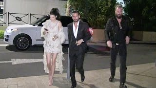 EXCLUSIVE - Kendall Jenner and Scott Disick end up the night taking a boat in Cannes