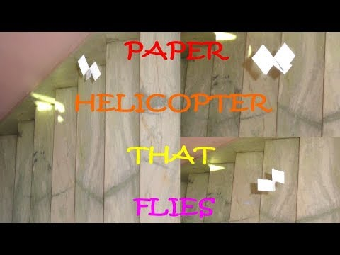 How to Make Paper Helicopter | Paper Helicopter That Flies | Flying Paper Helicopter 2 Blades | DIY