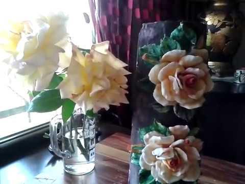 Tutkal Hamuru Ile Gül 2 Youtube