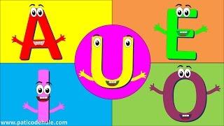 Las vocales para niños - Aprender las vocales - a e i o u