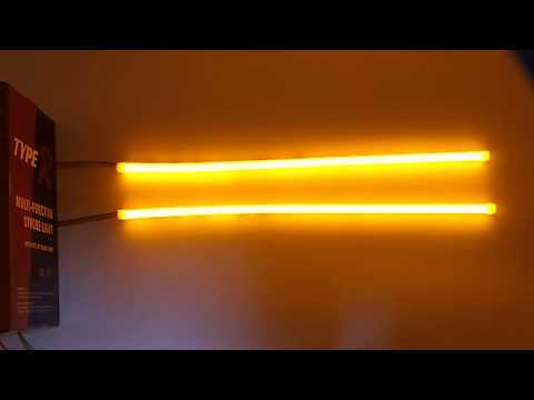Flexible  White+amber Sequential DRL, 30/45/60cm For Choice