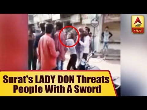 Surat's LADY DON Asmita Gohil Threats People With A Sword, Video Goes Viral
