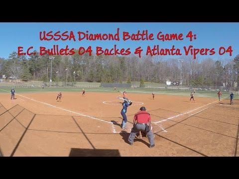 USSSA Diamond Battle Game4: EC Bullets 04 Backes & Atlanta Vipers 04