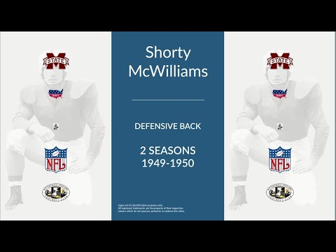 Shorty McWilliams: Football Defensive Back and Halfback