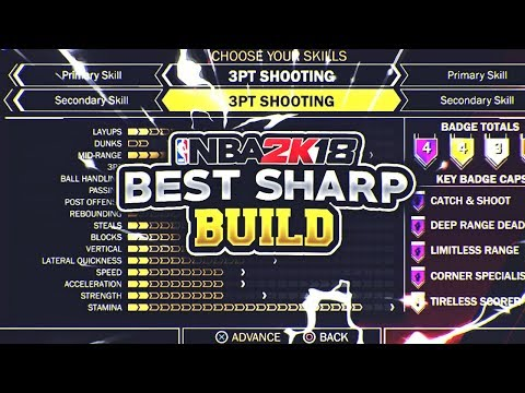 NBA 2K18: BEST SHARPSHOOTER BUILD! 🔥 WETTEST SHOOTING ARCHETYPE! 💦
