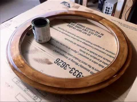 How to make a Round Picture Frame - YouTube