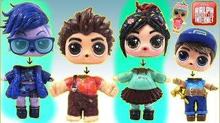 Learn Colors with RALPH BREAKS THE INTERNET Custom LOL Surprise Dolls Wrong HeadsToy Surprise