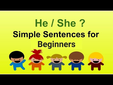 Where to use He / She ? | Simple sentences for Kindergarten and grade -1
