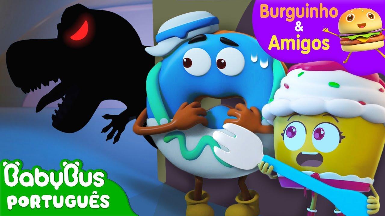 Será que Tem um Monstro no Escuro? 😲   Aventuras Alimentares   Burguinho e Amigos   BabyBus