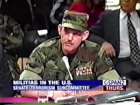 Senate Subcommittee on Terrorism - Militia in the US - 6/15/1995 (1 of 2)