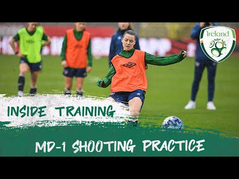 INSIDE TRAINING | Ireland WNT MD-1 Shooting Practice
