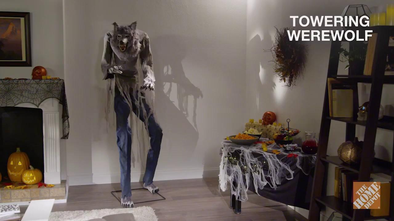seasonal visions 2017 7 ft towering werewolf halloween prop