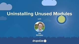 drupal 8 User Guide: 4.4. Uninstalling Unused Modules